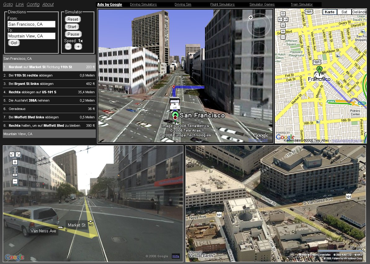 Gaiagi Driver 3D Driving Simulator including Street view and – View Street Map Google Earth